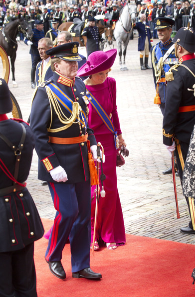 Princess Maxima of the Netherlands and Crown Prince Willem Alexander of The Netherlands attend the Budget Day announcement on September 18, 2012 in The Hague, Netherlands.
