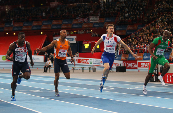 Dwain Chambers - European Athletics Indoor Championships - Day Three