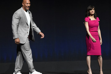Dwayne Johnson Carla Gugino CinemaCon 2015 - Warner Bros. Pictures Invites You To 'The Big Picture,' An Exclusive Presentation Highlighting The Summer Of 2015 And Beyond