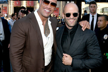Dwayne Johnson Jason Statham Premiere Of Universal Pictures' 'Fast And Furious Presents: Hobbs And Shaw'