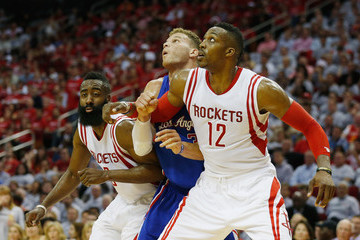 Dwight Howard James Harden Los Angeles Clippers v Houston Rockets - Game One