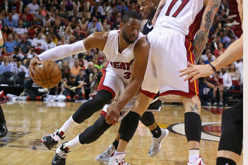 Dwyane Wade Brooklyn Nets v Miami Heat
