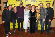 """(L-R) Clark Duke, Showtime SVP of Original Programming Robin Gurney, Erik Griffin, Ari Graynor, Al Madrigal, Melissa Leo, Michael Angarano, Andrew Santino, and Showtime President of Programming Gary Levine attend the """"I'm Dying Up Here"""" premiere 2017 SXSW Conference and Festivals on March 15, 2017 in Austin, Texas."""
