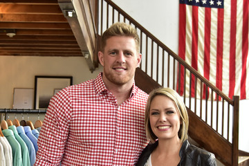 Dylan Dreyer J.J. Watt at Mizzen+Main Pop-Up Shop in San Francisco
