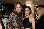 """Annette Weber (L) and Laila Hamidi attend E! Red Carpet Influencer Suite promoting """"Live from the Red Carpet"""" on german E! Entertainment at Soho House on January 10, 2016 in Berlin, Germany."""