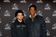 Scottie Pippen Jr. (L) and Scottie Pippen attend the grand opening of E3 Chophouse Nashville on November 20, 2019 in Nashville, Tennessee.