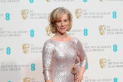 Juliet Stevenson poses in the winners room at the EE British Academy Film Awards 2014 at The Royal Opera House on February 16, 2014 in London, England.