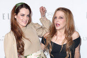 Riley Keough (L) and Lisa Marie Presley attend ELLE's 24th Annual Women in Hollywood Celebration at the Four Seasons Hotel Los Angeles at Beverly Hills on October 16, 2017 in Los Angeles, California.