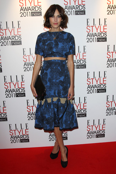 (UK TABLOID NEWSPAPERS OUT) Alexa Chung arrives at the ELLE Style Awards 2011 held at The Grand Connaught Rooms on February 14, 2011 in London, England.