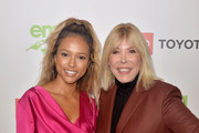 Karrueche Tran and Environmental Media Association Debbie Levin attend the EMA IMPACT Summit Day One at Montage Beverly Hills on May 29, 2019 in Beverly Hills, California.