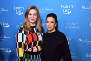 (L-R) Amber Tamblyn and Eva Longoria attend EMILY's List 3rd Annual Pre-Oscars Event at Four Seasons Hotel Los Angeles at Beverly Hills on February 04, 2020 in Los Angeles, California.