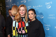 "(L-R) Amber Tamblyn and Eva Longoria attend EMILY's List Brunch and Panel Discussion ""Defining Women"" at Four Seasons Hotel Los Angeles at Beverly Hills on February 04, 2020 in Los Angeles, California."