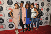 (L-R) Robin Thede, Franchesca Ramsey, Holly Walker, Sonya Rodriguez and Brittney Scott Smith attend the ESSENCE Best In Black Beauty Awards Carnival on April 21, 2016 in New York City.
