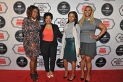 Ad Sales for ESSENCE Kim Smith (L) and Claire Sulmers (R) and guests attend the ESSENCE Best In Black Beauty Awards Carnival on April 21, 2016 in New York City.