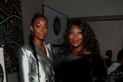 Justine Skye (L) and Bevy Smith attend the ESSENCE Best In Black Fashion Awards at Affirmation Arts on September 04, 2019 in New York City.