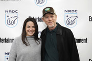 President of National Geographic Global Television Networks Courteney Monroe and Ron Howard attend EW x NRDC Sundance Film Festival Panel Series: Rebuilding Paradise Panel and Reception at Main Street Gallery on January 25, 2020 in Park City, Utah.