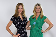 (EXCLUSIVE COVERAGE)   (L-R)  Trinny Woodall and Susannah Constantine pose during a video shoot for their original Magic Knickers range on July 18, 2011 in London, England.