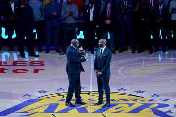 Earvin Johnson Golden State Warriors v Los Angeles Lakers