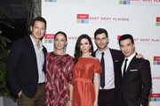 """(L-R) Actors Sasha Roiz, Bree Turner, Bitsy Tulloch, David Giuntoli and Reggie Lee arrive at the East West Players """"The Company We Keep"""" 52nd Anniversary Visionary Awards Fundraiser Dinner and Silent Auction at the Hilton Universal City on April 30, 2018 in Universal City, California."""