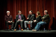 Leonard Maltin, Nick Allen, Robert Pulcini, Shari Springer, and Ted Hope attend on Day 3 of the Roger Ebert Film Festival at Virginia Theatre on April 20, 2018 in Champaign, Illinois.