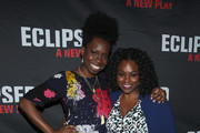 """Actors Adepero Oduye (L) and Stacey Sargeant attend the """"Eclipsed"""" broadway opening night at The Golden Theatre on March 6, 2016 in New York City."""