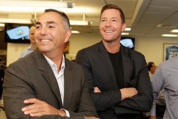 Ed Burns Annual Charity Day Hosted by Cantor Fitzgerald and BGC - Cantor Fitzgerald Office - Inside