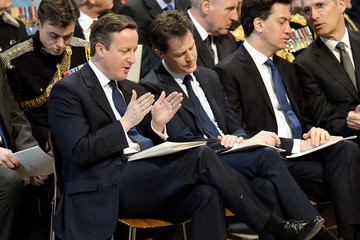 Ed Miliband Nick Clegg A Service of Commemoration for Troops in Afghanistan — Part 2