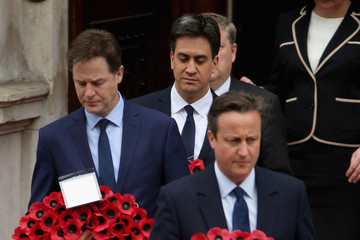 Ed Miliband Nick Clegg VE Day 70th Anniversary Day One