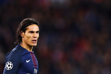 Edinson Cavani Paris Saint-Germain v FC Basel 1893 - UEFA Champions League