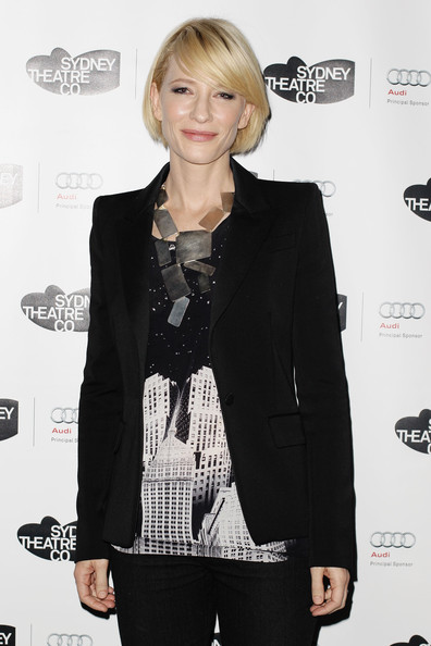 "Cate Blanchett poses ahead of the performance of the Sydney Theatre Company's ""Edward Gant's Amazing Feats of Loneliness"" at the Wharf on June 22, 2011 in Sydney, Australia."