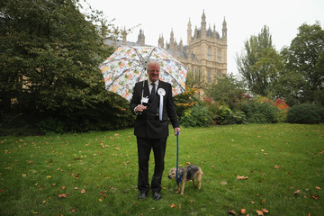 Edward Leigh MP's And Their Dogs Contest The Westminister Dog Of The Year Competition