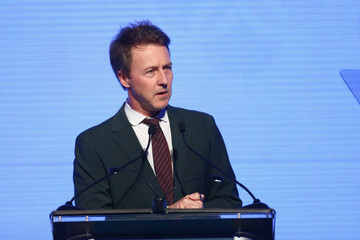 Edward Norton Leonardo DiCaprio Foundation Gala - Inside