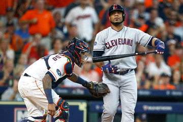 Edwin Encarnacion Divisional Round - Cleveland Indians vs. Houston Astros - Game One