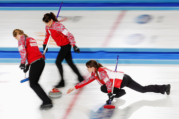 Ekaterina Galkina World Women's Curling Championship: Day 3