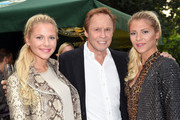 Cheyenne Pahde, Peter Kraus and Valentina Pahde attend the 'El Gaucho' Restaurant Opening on September 5, 2014 in Munich, Germany.