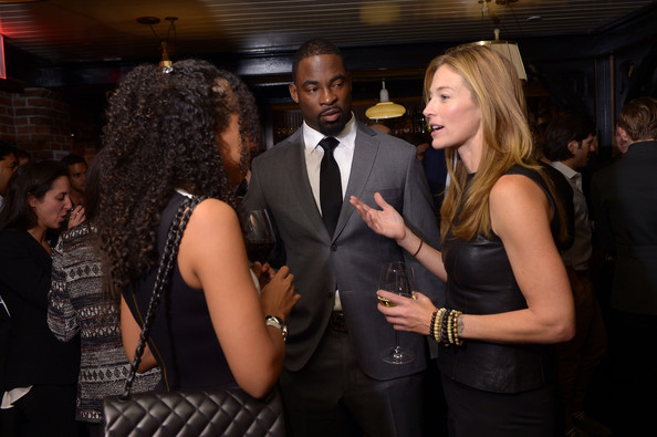 ... justin tuck elaine irwin c justin tuck elaine irwin and a guest attend