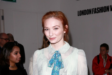 Eleanor Tomlinson Front Row & Arrivals: Day 1 - LFW February 2017