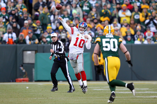 In the previous matchup Eli got additional help from New York s defense and  the right leg of kicker Lawrence Tynes in overtime. 81f35b541