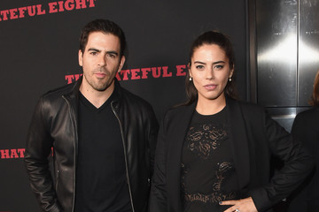 Eli Roth Lorenza Izzo Premiere of The Weinstein Company's 'The Hateful Eight' - Arrivals