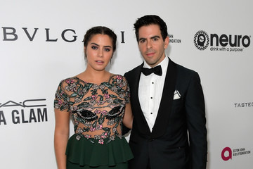 Eli Roth Lorenza Izzo 25th Annual Elton John AIDS Foundation's Oscar Viewing Party With Cocktails by Clase Azul Tequila and Chopin Vodka