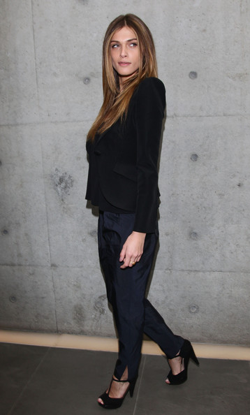 Elisa Sednaoui - Giorgio Armani - Front Row: Milan Fashion Week Womenswear Autumn/Winter 2011