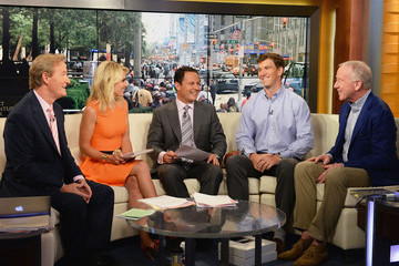 Elisabeth Hasselbeck Eli and Archie Manning Visit 'Fox & Friends'