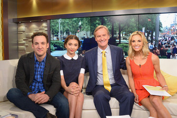 Elisabeth Hasselbeck Ben Savage and Rowan Blanchard Visit 'Fox and Friends'