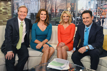 Elisabeth Hasselbeck Brooke Shields Visits 'FOX & Friends'