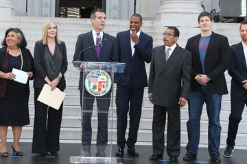 Elise Buik Jay Z Press Announcement at City Hall