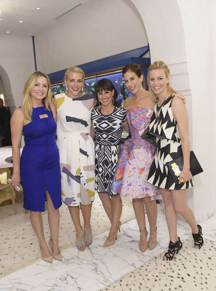 Irene Neuwirth Flagship Grand Opening [yellow,fashion,dress,event,fun,summer,vacation,fashion design,formal wear,ceremony,west hollywood,california,irene neuwirth flagship grand opening,irene neuwirth,elizabeth banks,actresses,jessica capshaw,busy philipps,constance zimmer]