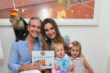 """Elizabeth Chambers Gray Malin and Elizabeth Chambers celebrate Gray Malin's First Children's Book, """"Be Our Guest!"""" at his West Hollywood studio"""