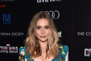 Elizabeth Olsen The Cinema Society With Audi and FIJI Water Host a Screening of Marvel's 'Captain America: Civil War'