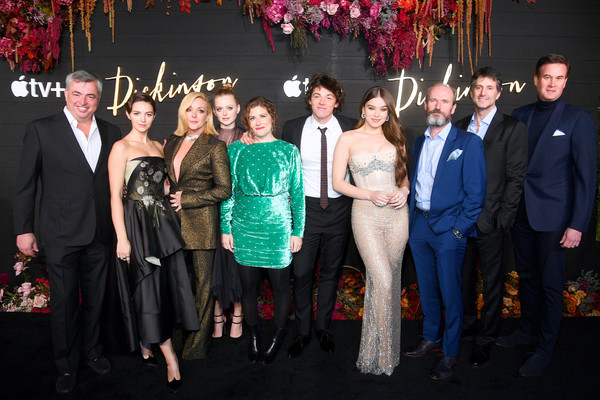 """Global Premiere Of Apple TV+'s """"Dickinson"""" - Brooklyn, New York – Red Carpet [event,social group,ceremony,fashion,formal wear,premiere,suit,party,temple,wedding,tv,alena smith,anna baryshnikov,adrian blake enscoe,l-r,dickinson,brooklyn,new york,apple,global premiere]"""