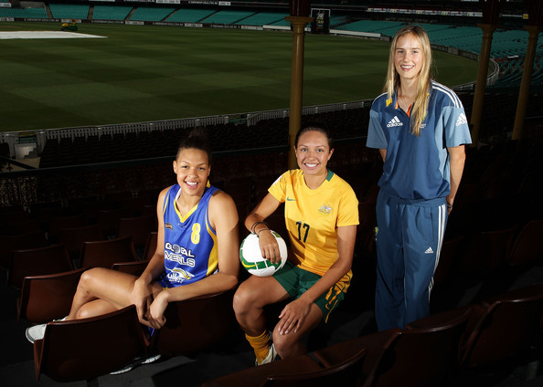 Ellyse Perry and Liz Cambage - Australian Athletes Attend Support Women In